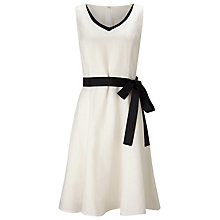 Buy Jacques Vert Tipped Linen Dress, Cream Online at johnlewis.com