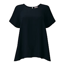 Buy Phase Eight Alessia Blouse, Navy Online at johnlewis.com