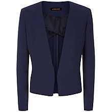 Buy Jaeger Crepe Edge to Edge Jacket, Navy Online at johnlewis.com