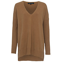 Buy French Connection Viva Vhari V-Neck Jumper, Tan Online at johnlewis.com
