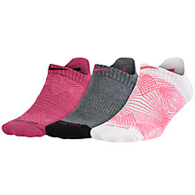 Buy Nike Dri-Fit Graphic Tab No Show Socks, Pack of 3, Multi Online at johnlewis.com