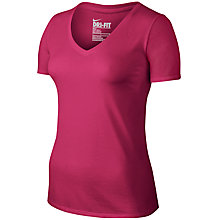 Buy Nike V-Neck Short Sleeve Training Top Online at johnlewis.com