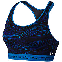 Buy Nike Pro Fierce Accelerator Sports Bra, Photo Blue/Obsidian Online at johnlewis.com