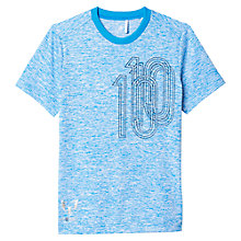 Buy Adidas Boys' Messi Icon Football T-Shirt, Blue Online at johnlewis.com