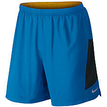 "Buy Nike Pursuit 2-in-1 7"" Flex Training Shorts, Photo Blue/Black Online at johnlewis.com"