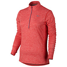 Buy Nike Element Half-Zip Heathered Running Top, Red Online at johnlewis.com