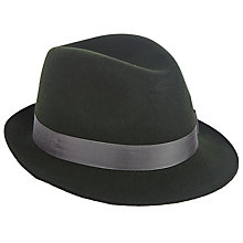 Buy Christys' Henley Trilby Hat, Green Online at johnlewis.com