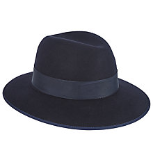 Buy Christys' Madison Fedora Hat, Navy Online at johnlewis.com