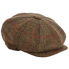 Buy Christys' Eight Piece Tweed Baker Boy Cap, Brown Online at johnlewis.com