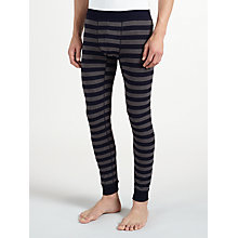 Buy John Lewis Stripe Long Johns, Navy/Grey Online at johnlewis.com