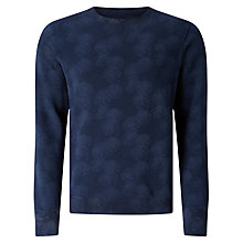 Buy JOHN LEWIS & Co. Lilypad Laser Printed Sweatshirt, Navy Online at johnlewis.com