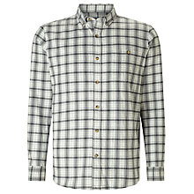 Buy John Lewis Brushed Check Shirt, Grey Online at johnlewis.com