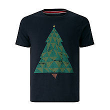 Buy John Lewis Organic Cotton Christmas Tree T-Shirt, Navy Marl Online at johnlewis.com