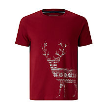 Buy John Lewis Organic Cotton Christmas Fair Isle Stag T-Shirt Online at johnlewis.com