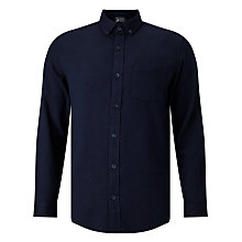 Buy JOHN LEWIS & Co. Brushed Herringbone Shirt, Indigo Online at johnlewis.com