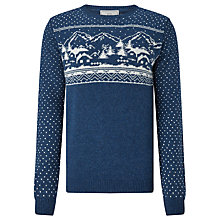 Buy John Lewis Charity Christmas Snow Scene Jumper Online at johnlewis.com