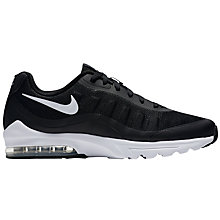 Buy Nike Air Max Invigor Men's Trainers, Black/White Online at johnlewis.com