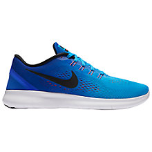 Buy Nike Free RN Men's Running Shoes, Blue Glow/Racer Blue Online at johnlewis.com