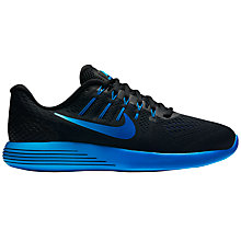Buy Nike LunarGlide 8 Men's Running Shoes, Black/Blue Online at johnlewis.com
