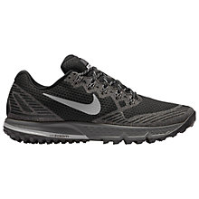 Buy Nike Air Zoom Wildhorse 3 Men's Running Shoes, Black/Grey Online at johnlewis.com