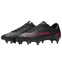 Buy Nike MercurialX Victory VI Men's SG Soft-Ground Football Boots, Black Online at johnlewis.com