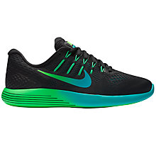 Buy Nike LunarGlide 8 Men's Running Shoes, Black/Multi Online at johnlewis.com