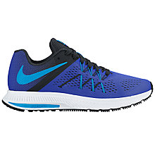 Buy Nike Air Zoom Winflo 3 Men's Running Shoes, Racer Blue/Multi Online at johnlewis.com