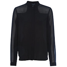 Buy French Connection Polly Plains Longsleeve Roundneck Top Online at johnlewis.com