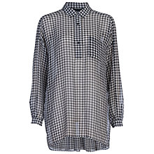 Buy French Connection Millie Gingham Shirt, Black/White Online at johnlewis.com
