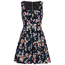 Buy French Connection River Daisy Dress, Utility Blue Multi Online at johnlewis.com