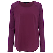 Buy French Connection Polly Plains Raglan Top Online at johnlewis.com