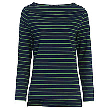 Buy French Connection Timtim Long Sleeve T-shirt, Black/Juniper Green Online at johnlewis.com