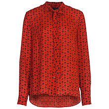 Buy French Connection Mara Dot Shirt, Red Sky Online at johnlewis.com
