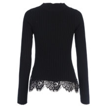 Buy French Connection Nicola High Neck Jumper, Black Online at johnlewis.com
