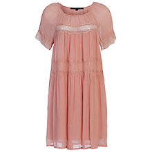 Buy French Connection Rosie Drape Dress, Ballet Blush Online at johnlewis.com