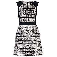 Buy French Connection Mayan Stripe Dress, Black/White Online at johnlewis.com