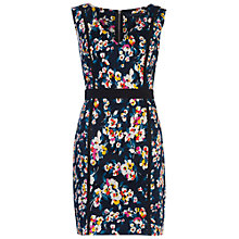 Buy French Connection Daisy V-Neck Dress, Utility Blue Multi Online at johnlewis.com