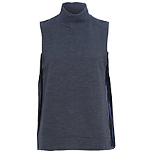Buy French Connection Sudan Sunray Top, Dark Grey Melange/Black Online at johnlewis.com