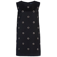 Buy French Connection Midnight Satin Tunic Dress, Black Online at johnlewis.com