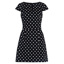 Buy French Connection Dotty Spot Cotton Dress, Black/Winter White Online at johnlewis.com