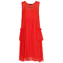 Buy French Connection Rosie Drape Dress, Red Sunrise Online at johnlewis.com