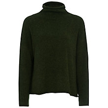 Buy French Connection Flossie High Neck Jumper, Forest Green Online at johnlewis.com