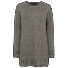 Buy French Connection Core Cashmere-Blend Oversized Jumper, Mid Grey Marl Online at johnlewis.com