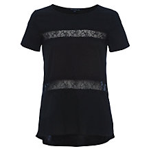 Buy French Connection Polly Plains Shortsleeved Roundneck Top Online at johnlewis.com
