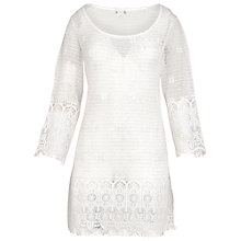 Buy Fat Face Elbury Crochet Beach Dress, Ivory Online at johnlewis.com