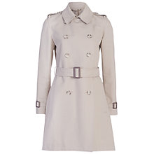 Buy French Connection Freeway Collar Long Sleeve Belted Coat, Silver Stone Online at johnlewis.com