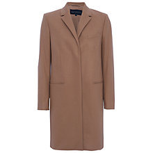 Buy French Connection Platform Felt Long Sleeve Classic Coat, Indian Tan Online at johnlewis.com
