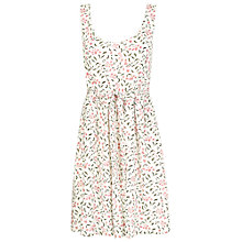 Buy Fat Face Kirstie Petal Vines Dress, Ivory Online at johnlewis.com