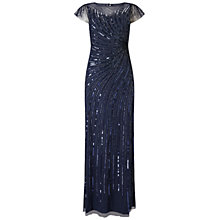 Buy Adrianna Papell Cap Sleeve Beaded Gown, Navy Online at johnlewis.com