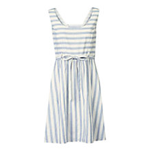 Buy Fat Face Kirstie Striped Dress, Ivory Online at johnlewis.com